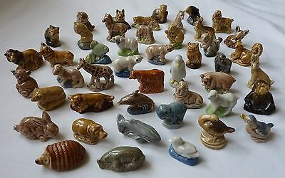 Wade Whimsie Vintage Animal Collection collectable pottery figures 1971-1985