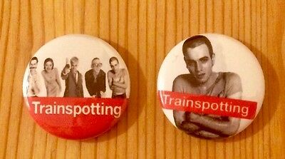 Trainspotting - Set Of 2 Button Pin Badges / Magnets