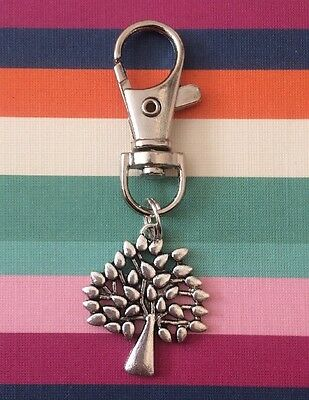 Silver Tone Mulberry Tree Charm Bag Charm/Clasp/Clip. Gift Idea.