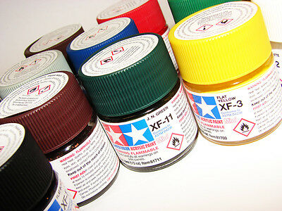 Tamiya Paint listing XF1-XF86 Modelling Acrylic Paint Plastic Model Paint Touch