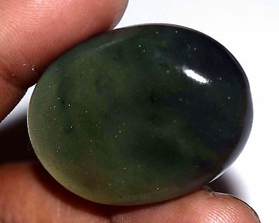60.70 Ct Natural Green Serpentine Untreated Oval Cabochon Best Gemstone