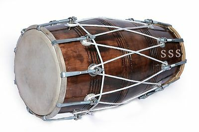 Special Handmade Brown Bolt Tuned Dholak by Handmade Good Looking
