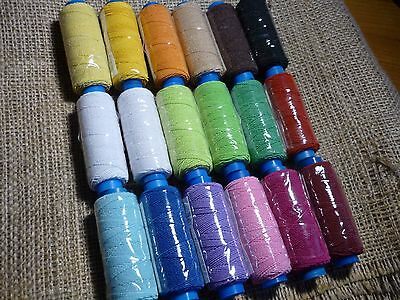 18 Spools Elastic Spandex Stretch Thread for Sewing Assorted Huge Lot Mixed