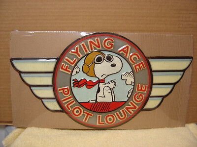 Snoopy Peanuts Sign Flying Ace Pilot Lounge Metal Sign...charlie Brown, Airplane