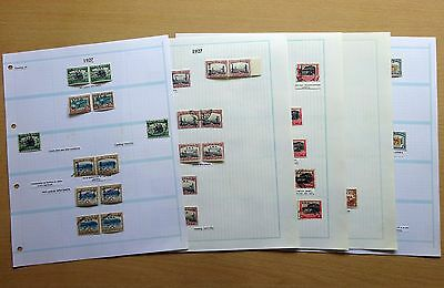 South West Africa SWA 1927 Overprint Varieties, Unlisted Errors, Specimens, etc.