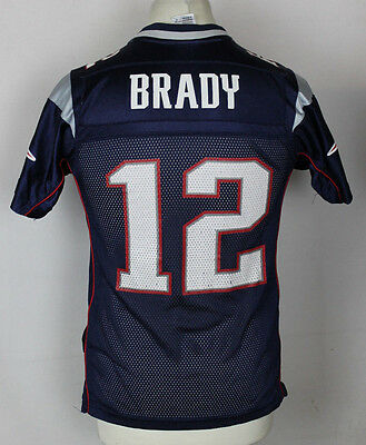 Brady #12 New England Patriots Nfl American Football Jersey Youths Medium