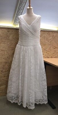 Gorgeous Handmade Wedding Dress Bridal Gown White Lace Size 18 Or 20