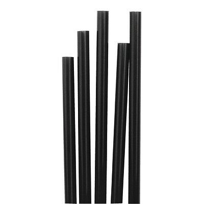 "1000 X Kristallon 140mm / 5.5"" Black Cocktail Stirrer Straws Drinking Restaurant"