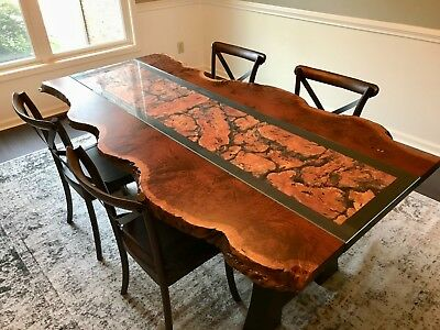 Handcrafted Ipe Live Edge Designer Dining Table