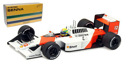 Minichamps McLaren Honda MP4/4 1988 World Champion - Ayrton Senna  1/18 Scale