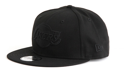 "Casquette New Era 9Fifty Snapback  "" Black-Black "" Los Angeles Lakers"