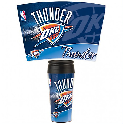 Travel Mug Team Logo Oklahoma City Thunder