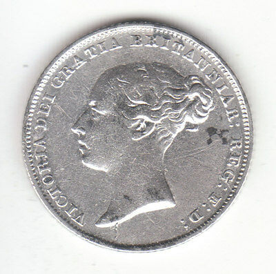 1846 Great Britain Queen Victoria Silver Sixpence.
