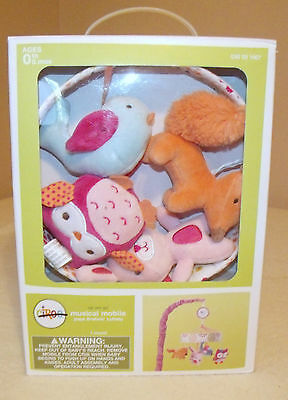 circo up we go musical crib mobile plays brahms' lullaby new in box