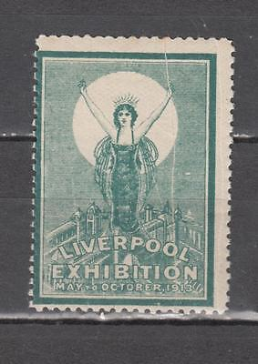 1913 Liverpool Exhibition Poster Stamp Unmounted Mint Full Gum  ( For Condition