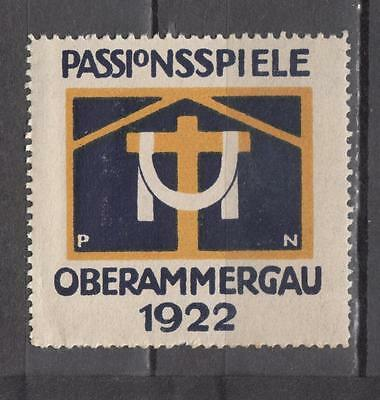 1922 Passionsspiele Oberammergau Poster Stamp Unmounted Mint Full Gum Some Damag