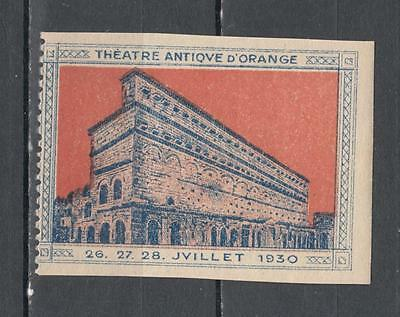 1930 France Theatre Antiqve D'Orange Poster Stamp Unmounted Mint Full Gum ( For