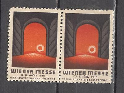 1939 Pair Wieer Messe Poster Stamp Unmounted Mint Full Gum ( For Condition See S