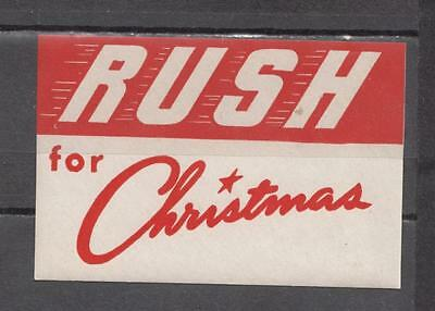 1940's Rush For Christmas Poster Stamp Unmounted Mint Full Gum ( For Condition S