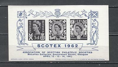 1962 Scotex Min Sheet Glasgow Unmounted Mint Full Gum ( For Condition See Scan )