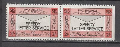 1971 Postal Strike Pair Speedy Letter Service Of Great Britain 2s Unmounted Mint