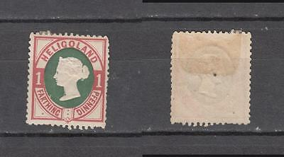 Queen Victoria Heligoland 1 Farthings / 1 Pfennig  Mounted Mint Full Gum ( For C