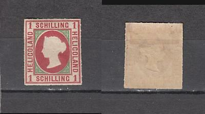 Queen Victoria Heligoland 1 Schilling Mounted Mint Some Gum ( For Condition See