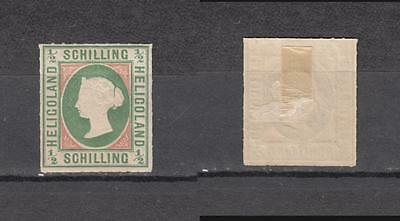 Queen Victoria Heligoland 1/2 Schilling Mounted Mint Full Gum ( For Condition Se