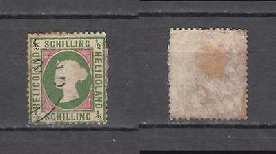 Queen Victoria Heligoland 1/2 Schilling Used ( For Condition See Scan )