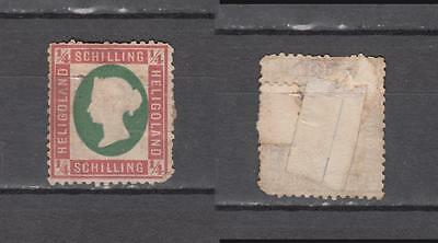 Queen Victoria Heligoland 1/4 Schilling Mounted Mint Some Gum( For Condition See