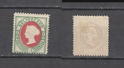 Queen Victoria Heligoland 2 Farthings / 2 Pfennig Mounted Mint Full Gum ( For Co