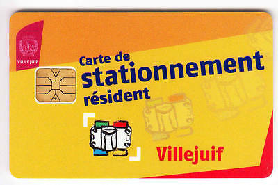 Piaf Parking Carte / Card .. Villejuif 20€ Resident Art V° 9Ln Chip/puce