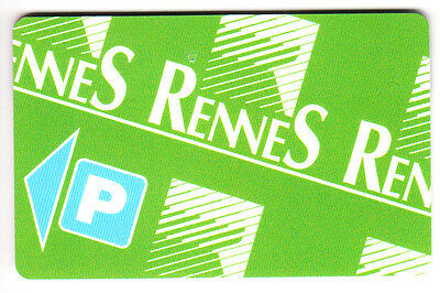 Piaf Parking Carte / Card .. Rennes 100F Central Card V°10Ln Magnetique