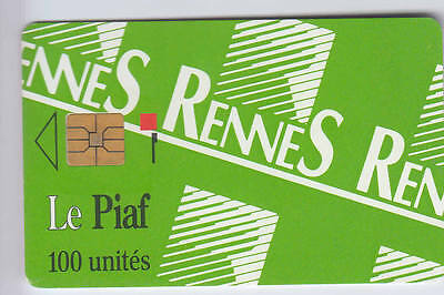 Piaf Parking Carte / Card .. Rennes 100U 07/92 500Ex C.95€ Chip/puce
