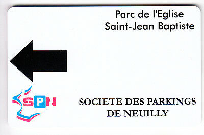 Piaf Parking Carte / Card .. Neuilly Sur Seine 92 Spn V° 9Ln Magnetique