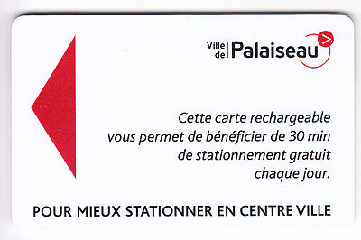 Piaf Parking Carte / Card .. 30Mn Palaiseau V° 8Ln  Magnetique