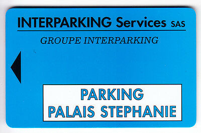 Piaf Parking Carte / Card .. Cannes 06 Palais Stephanie Sas V°  11Ln Magnetique