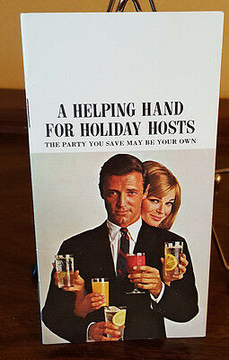 Vintage Smirnoff Holiday Host Recipe Booklet Mixology 70's