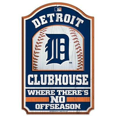 Plaque En Bois Mlb Detroit Tigers