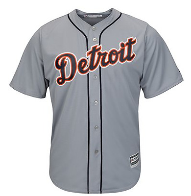 Majestic Mlb Cool Base Replica Detroit Tigers Road Jersey