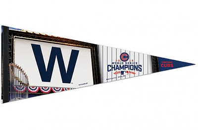 "Fanion Premium Mlb Chicago Cubs "" World Series Champions """