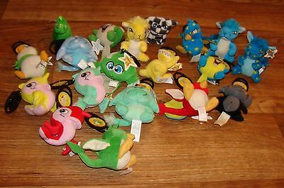 Neopets Lot Of 19 Assorted Plush Green Chomby Yellow Kyrii Red Pteri +++