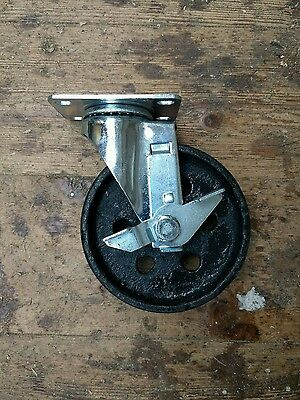 "Industrial 5"" swivel castor with cast iron caster wheel for Industrial furniture"