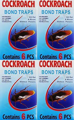 Cockroach Glue Traps 6/12/24 PCS Spider Ant Pest Control Insect Bug Killer