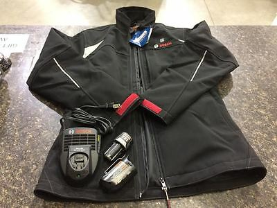 Bosch 12 Volt Women's Medium Black Heated Jacket Kit - battery included