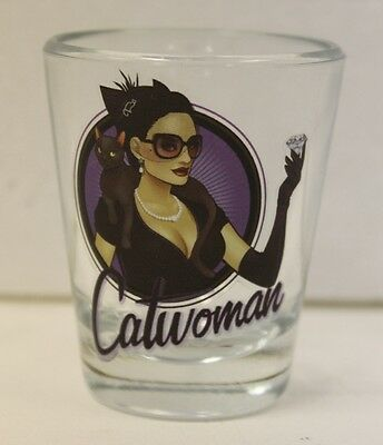 Catwoman DC Bombshell Mini-Glass 'TOON TUMBLER Shot Glass