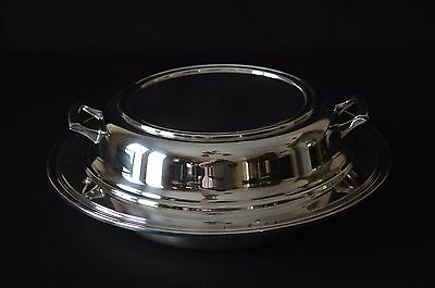 Sheffield Silver Plate Made in USA Covered Serving Dish With 3 Section Divider