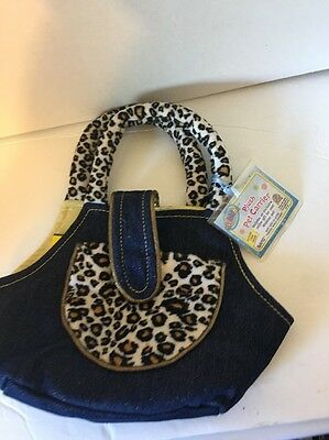 WEBKINZ PET CARRIER ~ Blue Jean & LEOPARD ** New with sealed code