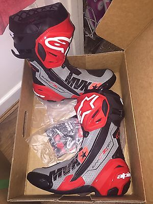 Signed Maverick Vinales Alpinestars Supertech Ltd Edt Boots.rare.exact Proof.