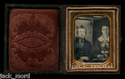Unusual Double Trick Daguerreotype - Two Bare Plates Married Together